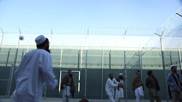 Detainees in Bagram jail