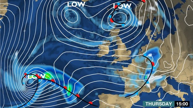 Another storm is waiting in the wings in the Atlantic and is due to arrive on Friday, say BBC forecasters