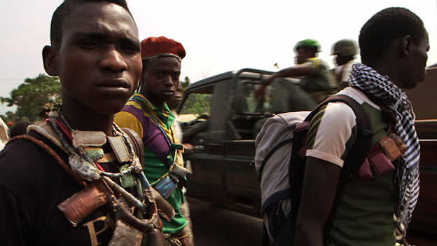 Anti-balaka fighters in CAR