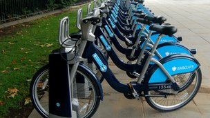 Docking station for London bike hire scheme
