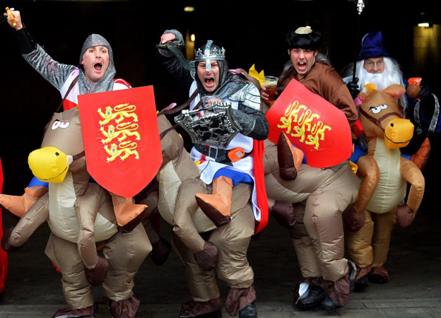 England fans in costume