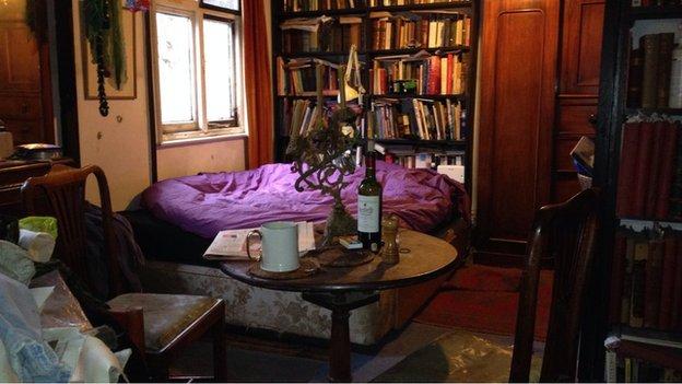 Upstairs room in Pembertons' house