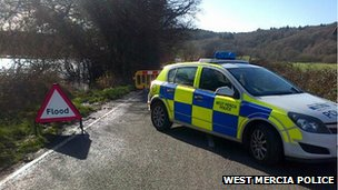 Police car on The Switchback near Stourport
