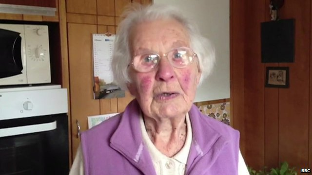 Shepperton resident, Alison Spooner, 96, is staying put
