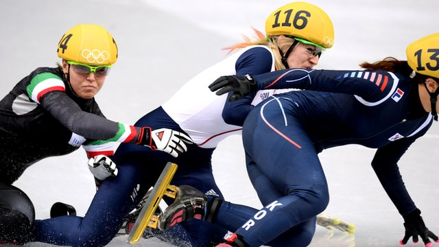 Elise Christie disqualified in chaotic speed skating final