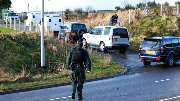 The police and Army carried out a search of land close to Parkhead Crescent