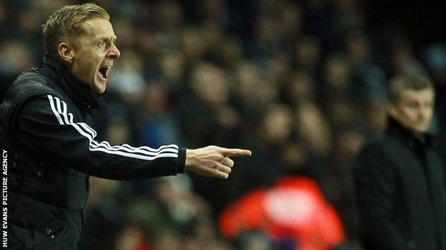 Swansea City boss Garry Monk and Cardiff City boss Ole Gunnar Solskjaer