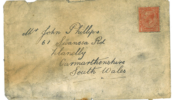 The envelope found behind a fireplace on Orkney