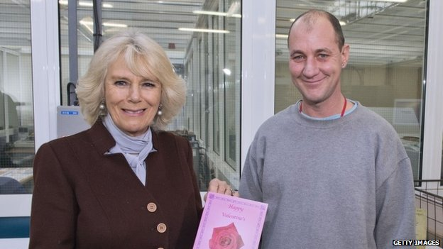 Duchess of Cornwall with prisoner Gary Bird