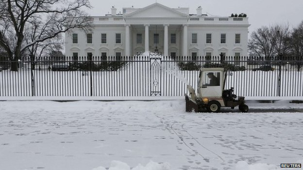 The White House in Washington DC on 13 February 2014