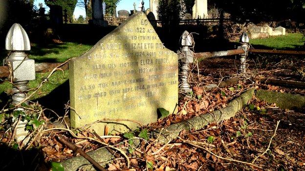 John Peden's grave