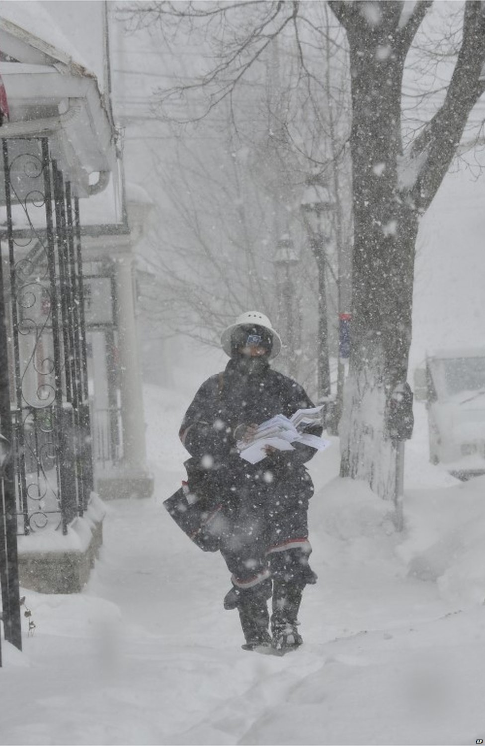 Postman in Bethlehem, Pennsylvania, on 13 February 2014