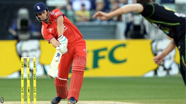 Alex Hales in action for England