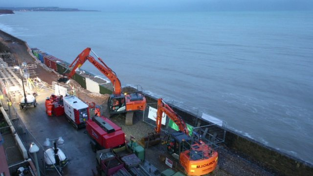 Dawlish railway repairs