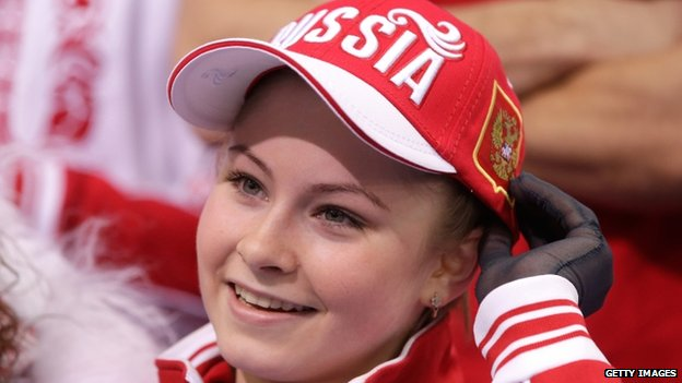 Yulia Lipnitskaya of Russia