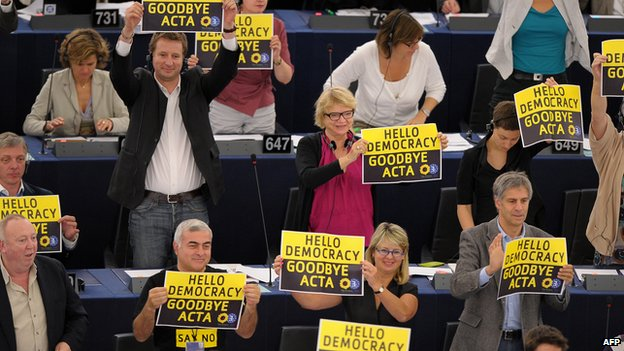 MEPs reject Acta, 4 Jul 12