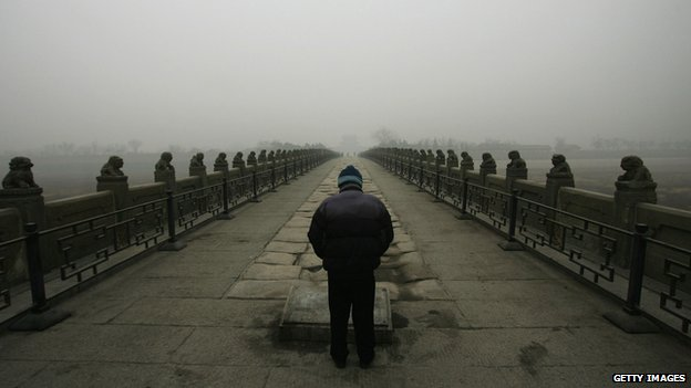 Paying respects at the Marco Polo Bridge