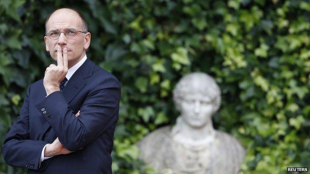 Outgoing Italian Prime Minister Enrico Letta in Rome