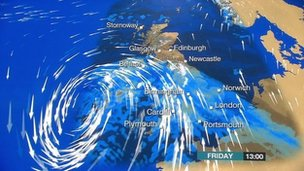 Another storm is moving in from the Atlantic and due to arrive on Friday, say BBC forecasters