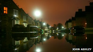 A flooded street in Staines_on_Thames, Surrey