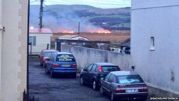 Fire at Borth