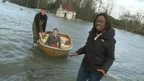 Ayshah meets Charlotte, who travels to school by boat