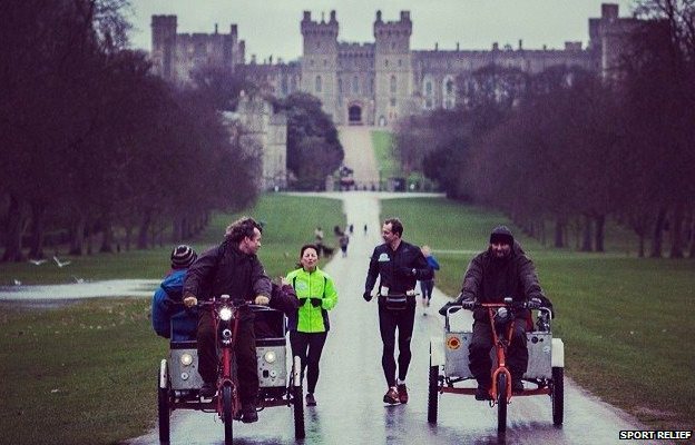 Davina McCall at Windsor Castle
