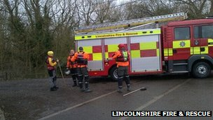 Lincolnshire Fire and Rescue's Spalding team are working in Cookham, Berkshire, this morning