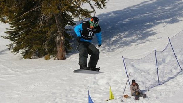 Paralympic snowboarder Matthew Robinson