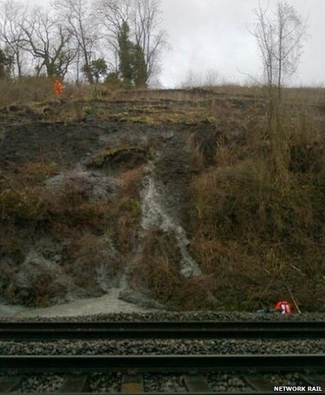 Landslip near Harbury Tunnel