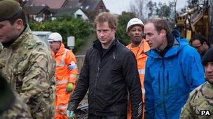 Prince William and Prince Harry in Datchet