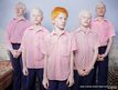 Blind albino boys in their boarding room at the Vivekananda mission school for the blind in West Bengal