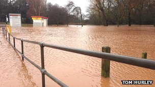 Flooded car park. Pic: Tom Hurley