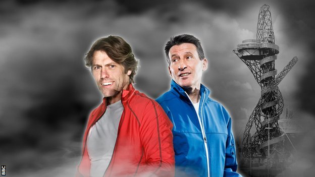 Comedian John Bishop and four-time Olympic medal winner Sebastian Coe