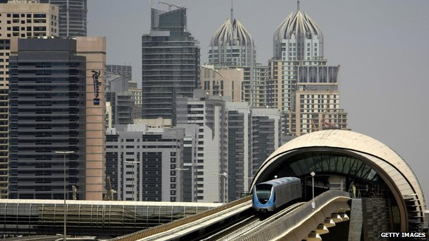 Dubai's Metro train system