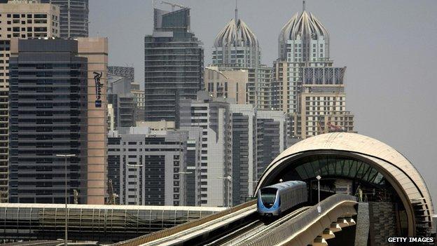 Dubai's Metro train system