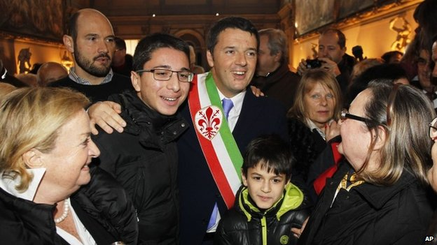 Florence Mayor Matteo Renzi, 14 February 2014