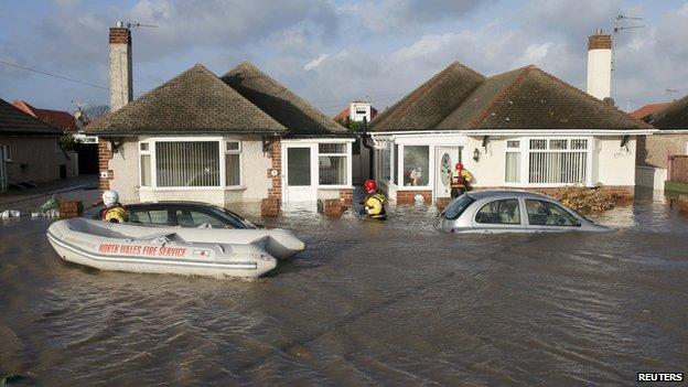 Rhyl flooding, December 2013