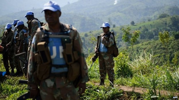 Monusco peacekeepers in Masisi, DR Congo - June 2012