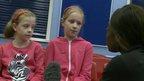 Children speaking to Ayshah