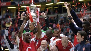 Arsenal FA Cup winners 2005