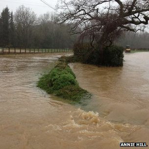 Flooding at Beneknowle, Diptford, Devon
