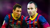 Barcelona v Rayo Vallecano: Lionel Messi and Andres Iniesta