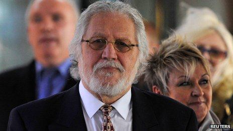 Dave Lee Travis outside Southwark Crown Court on 13 February 2014