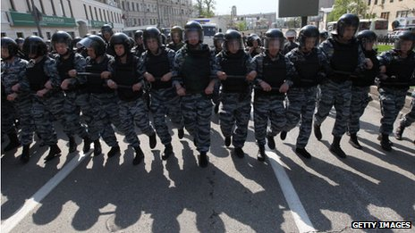 Riot police in Russia