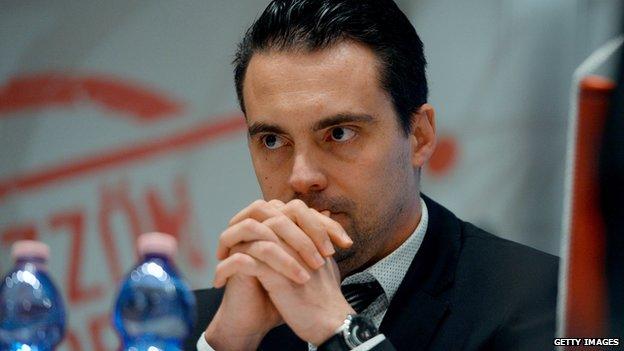 Jobbik leader Gabor Vona (14 February 2014)