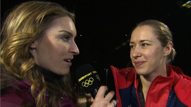 Amy Williams and Lizzy Yarnold