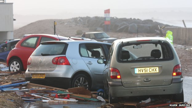 Most of the cars parked outside were either gone, underwater or a write-off, the restaurant's manager said