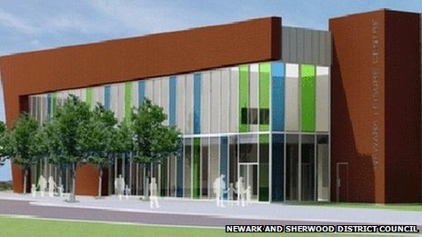 Plans for a new leisure centre in Balderton