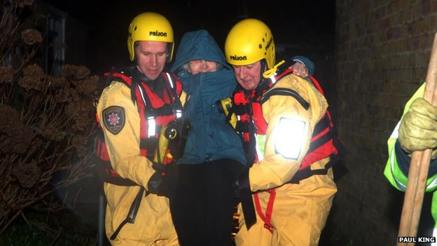 Hampshire Fire Crews in Basingstoke rescued a woman from Buckskin Estate